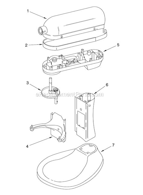kitchen aid replacement parts kitchenaid kt2651x parts list and diagram