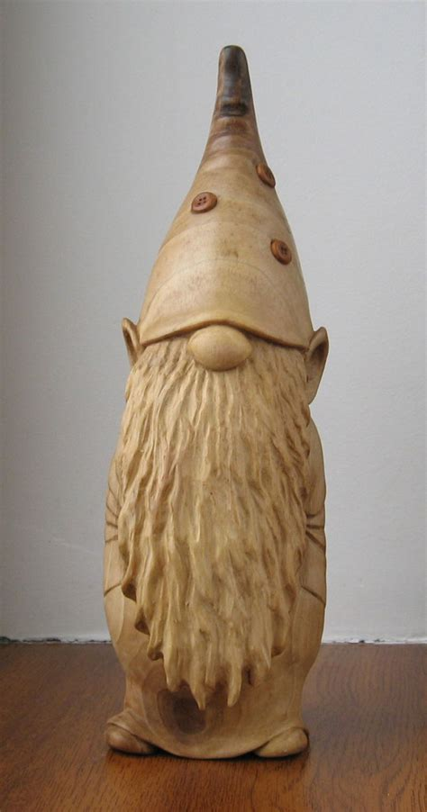 gnome wooden figurine hand carving