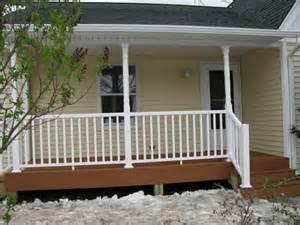 Front Porch Design Idea Beige Siding Wall Good Porch Flooring Ideas