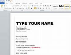 Edit Template Word010 How To Create A Winning Resume In Microsoft Word 2010