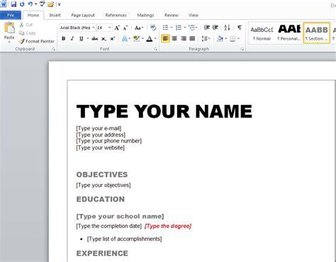 learn   create  resume  microsoft word