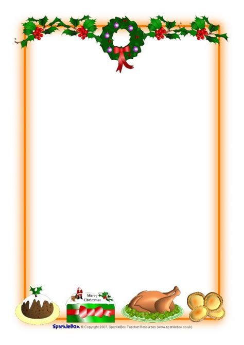 christmas  portrait page borders  sb sparklebox