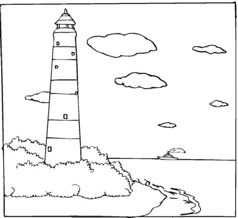 free printable lighthouse coloring pages for