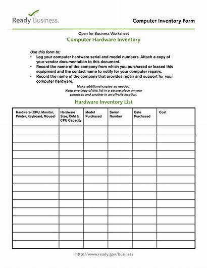 Inventory Computer Form Hardware Template Templates Allbusinesstemplates