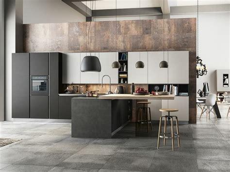 cuisine bois laqué cuisine laque blanche plan de travail gris surprenant