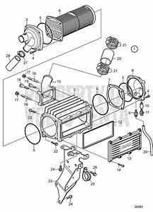 Volvo Penta Exploded View    Schematic Charge Air Cooler D4