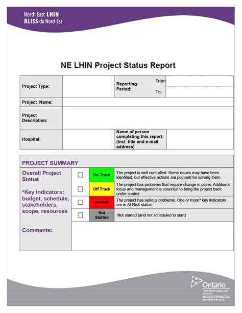 project status report templates word excel