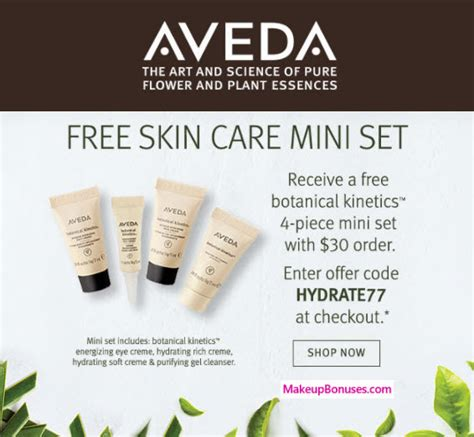 65870 Aveda Coupon Code by Aveda 4 Free Gift With Purchase Makeup Bonuses