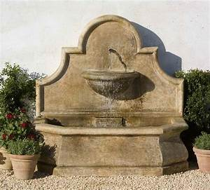 Wall fountains andalusia wall fountain cast stone wall for Outdoor patio fountains