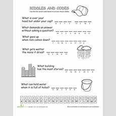 Riddles And Codes Educationcom