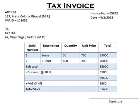difference  tax invoice  retail invoice