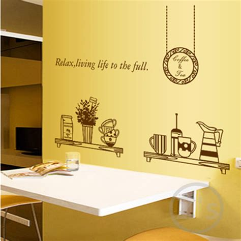 wall stickers for kitchen design dining room wall decals removable wall sticker home 8887