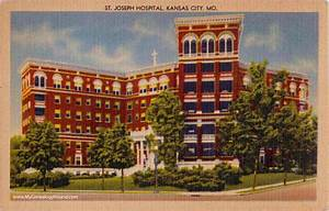 Kansas City, Missouri, St. Joseph Hospital, vintage ...