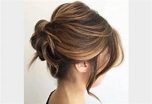 Coiffure Femme Mi Long : chignon 2018 cheveux long ~ Melissatoandfro.com Idées de Décoration