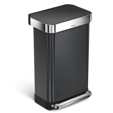 simplehuman   black stainless steel rectangular liner