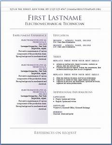 Free cv templates 36 to 42 free cv template dot org for Free resume format in word