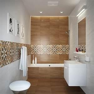 Carrelage salle de bain imitation bois 34 idees modernes for Salle de bain design avec carrelage salle de bain castorama