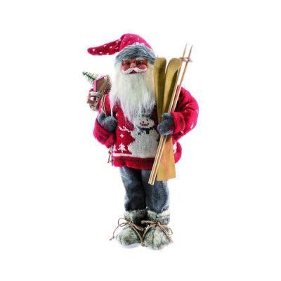 kerstman rode trui sneeuwman die skis hcm retif