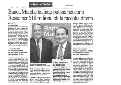 Banca M Arche by Mercato Libero Banca Marche Bankitalia La Commissaria