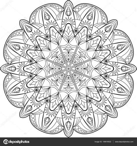 Mandala Kleurplaten by Kreis Mandala Erwachsene Malvorlagen Stockvektor