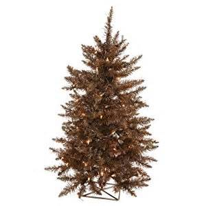 2 pre lit sparkling chocolate brown artificial christmas tree clear lights amazon co uk