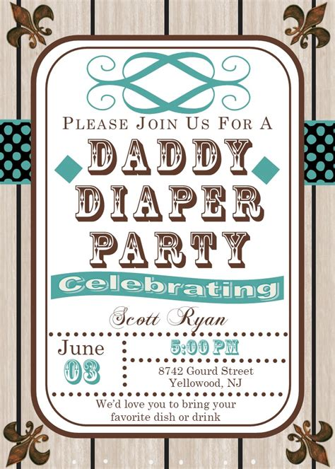 Daddy Diaper Party Invitations New Selections Spring 2018. Photo Templates Free. Brooklyn College Graduate Programs. Yale University Graduate Programs. Business Partnership Agreement Template Free. Treasurer Poster Ideas. Letter To Daughter Graduating High School. Friday The 13th Sale. Kids Chore Chart Template
