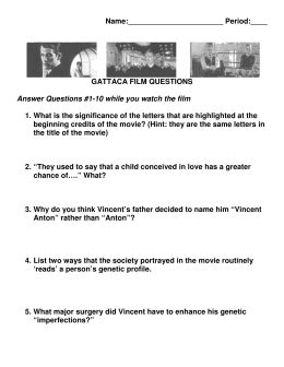 Gattaca Viewing Questions  Answer Key