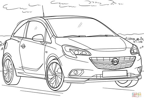 Kleurplaat Auto Opel by Opel Corsa Coloring Page Free Printable Coloring Pages