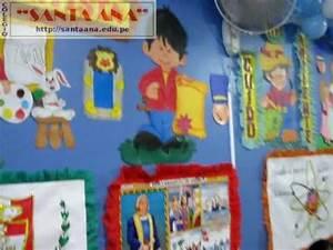 Colegio Santa Ana de Ingeniería Ambientación de aulas 5to A Primaria (2009) YouTube