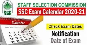 New Ssc Exam Calendar 2020