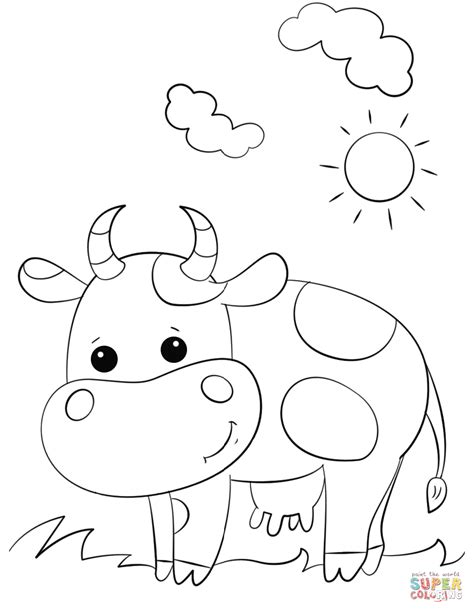 cow coloring page cow coloring page free printable coloring pages