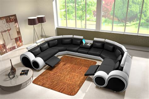 Jvmoebel  Ledersofa Couch Sofa Ecksofa Modell Berlin Iv U