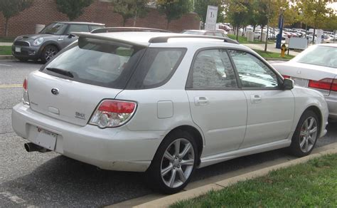 06 Subaru Wrx by File 06 07 Subaru Wrx Wagon Rear Jpg Wikimedia Commons