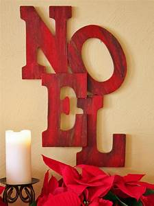 wooden letter holiday sign hgtv With christmas wooden letters