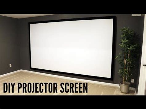 build  hang  projector screen youtube