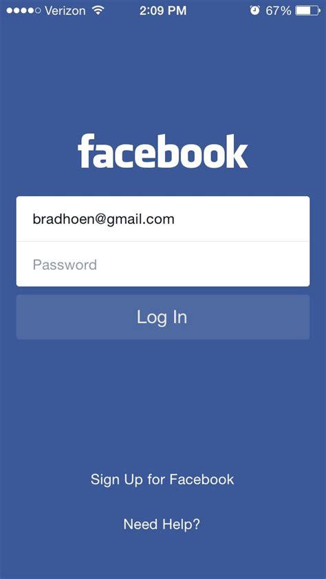 Facebook login screen   App login, App development ...