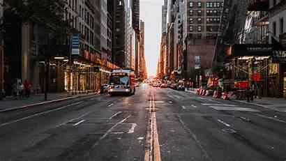 Urban Street Road Transport Background Asphalt Buildings