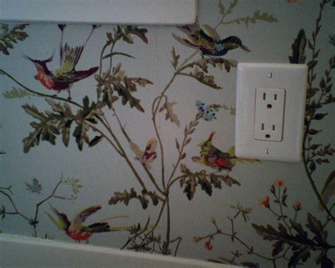 Adorable Modern Home Decor Wallpaper Bird Motifs Interior