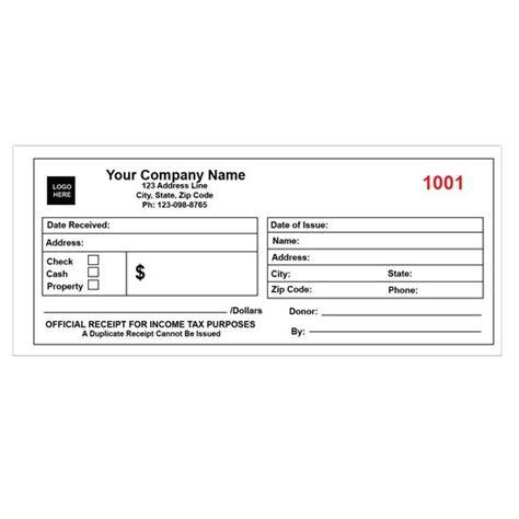 custom receipt books cash receipt printing designsnprint
