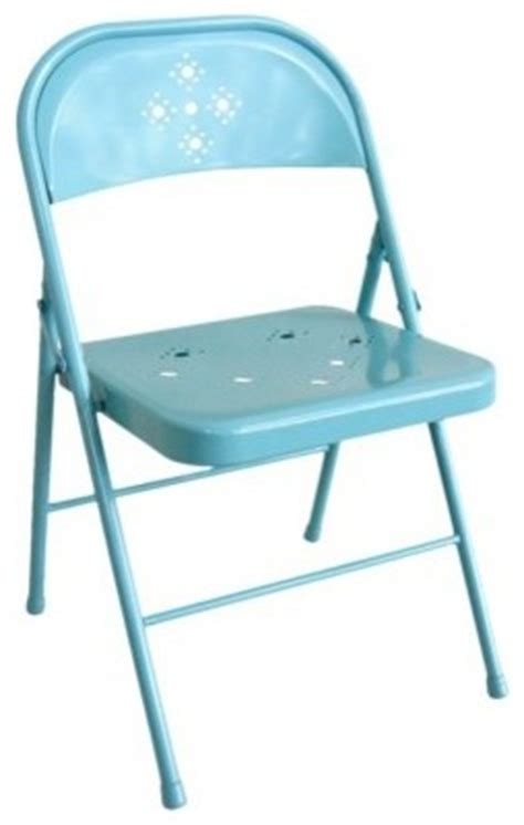 folding chair perforated teal contemporary folding