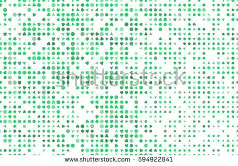 seamless pattern clover leafs st patricks stock vector 582311290