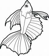 Fish Coloring Pages Realistic Drawing Fishing Pole Printable Goldfish Bass Drawings Real Ocean Sheet Koi Aquarium Hard Bowl Scales Pencil sketch template