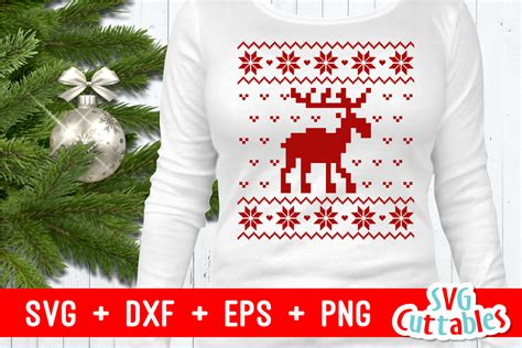 Alibaba.com offers 220 christmas sweater patterns free products. Christmas SVG - Christmas Ugly Sweater Moose - SoFontsy