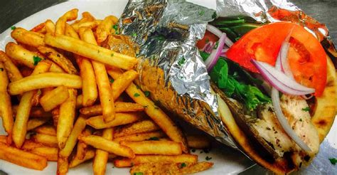 famous gyro  french fries star pizza italian kitchen