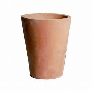 Pots En Terre Cuite Carrefour : pot conique conihi en terre cuite diam tre 47 cm ~ Dailycaller-alerts.com Idées de Décoration