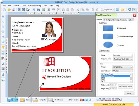 faculty id card template id card designing software create student employee