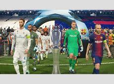 PES 2018 UEFA Champions League Final FC Barcelona vs R