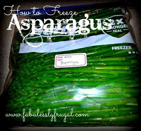 can you freeze fresh asparagus how to freeze asparagus