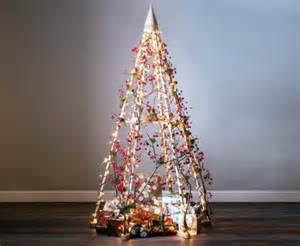 14 faux christmas trees to green your holidays jubiltree wooden christmas tree inhabitat