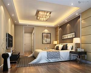 modern master bedroom design ideas with luxury lamps white With ceiling design for master bedroom